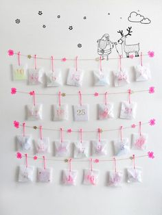 35 DIY Advent Calendar Ideas Anyone Can Make. These easy ideas are so clever, definitely pinning! DIY your very own homemade Christmas advent calendar and add some more festive decorations to your home! Christmas Calendar, Noel Christmas, Christmas Countdown, Homemade Christmas, Winter Christmas, All Things Christmas, Christmas Glitter, Christmas Tables, Nordic Christmas