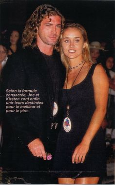 Joe Lando and wife Kirsten.