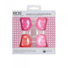 Nourish your lips with eos Summer Fruit Lip Balm. This moisturizing lip balm will leave your lips soft and smooth. Explore all our lip balms here! Eos Lip Balm Set, Eos Chapstick, Eos Products, Beauty Products, Organic Lip Balm, Skin Care Cream, Hand Lotion, Natural Lips, Lip Care