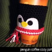 Penguin Coffee Cozy - via @Craftsy