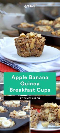 Apple Banana Quinoa Breakfast Cups