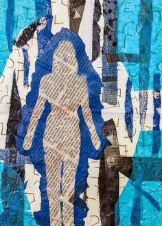 Threshold #4 by GJ Gillespie. Mixed media collage. 10 x 7