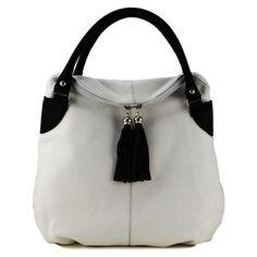 L. Credi Handbag, White/Black