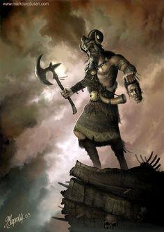 Perun the Thunder God by Dusan Markovic