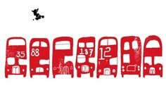 I love the London bus image - such an icon