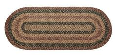 """Patriotic Patch Braided Jute Runner Rug, Rectangular - 27""""x72"""" by Victorian Heart. $52.95. 100% Cotton Fabric. Constructed of braided jute in shades of navy, deep red, deep gold and wheat."""