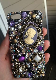 Hand made jeweled iPhone 5 case by Denyal on Etsy, $40.00