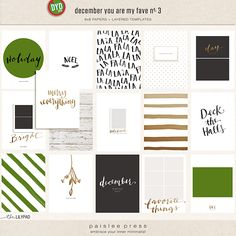 December You Are My Fave 6x8 Templates and Papers by paislee press