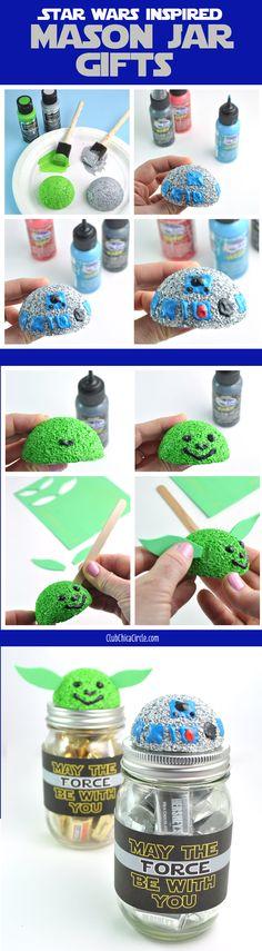 Star Wars inspired Mason Jar Homemade Gift Ideas | Club Chica Circle #decoartprojects #starwars