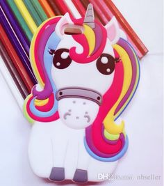 Cute 3d Rainbow Unicorn Horse Case Animal Cartoon Soft Silicone Cases Cover For Iphone 7 7plus 5s Se 6 6s 6plus Cell Phone Case Wholesale Clear Cell Phone Cases From Nbseller, $2.32| Dhgate.Com