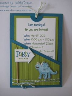 DinoRoar 6th B-Day Invitations by sidoni - Cards and Paper Crafts at Splitcoaststampers