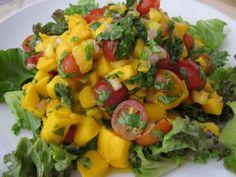 Light and Fresh Thai Mango Salad  ( raw vegan recipe )