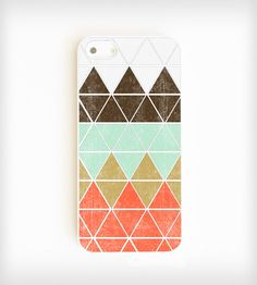 Geometric mountain iPhone case