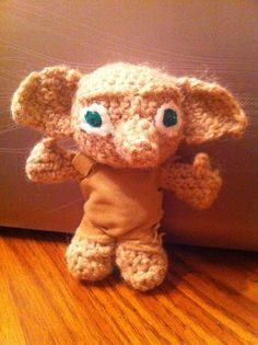 Crochet Harry Potter Dobby miniature by alillama88 on Etsy