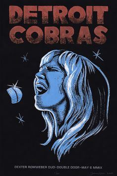 The Detroit Cobras / Dexter Romweber Duo. Poster design: Johnny Sampson (2009).