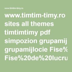 ro sites all themes timtimtimy pdf simpozion grupamijlocie All Themes, Pdf, Math Equations