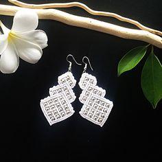 A personal favorite from my Etsy shop https://www.etsy.com/listing/538701399/macrame-earrings-diy-white-earrings