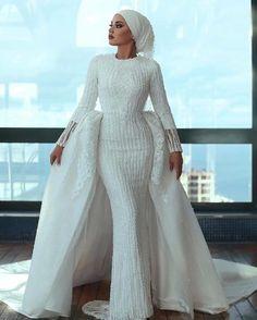 Muslim Wedding Gown, Hijabi Wedding, Muslimah Wedding Dress, Muslim Wedding Dresses, Muslim Brides, Dream Wedding Dresses, Wedding Gowns, Lace Wedding Dress, Lace Dress