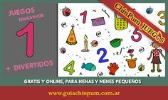 Juegos educativos en línea para niños preescolares: aprender jugando los primeros números. #Juegos #Educativos #Numeros