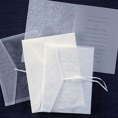 Wrapped in Sheer Invitation weddingneeds.carlsoncraft.com