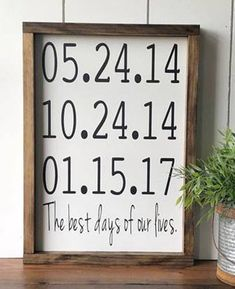 Best Days of Our Lives Wood Sign / Best Days of Our Lives Date Sign / Important Dates / Family Date