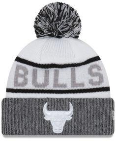 42ad6ffaea6 New Era Chicago Bulls Court Force Pom Knit Hat   Reviews - Sports Fan Shop  By Lids - Men - Macy s