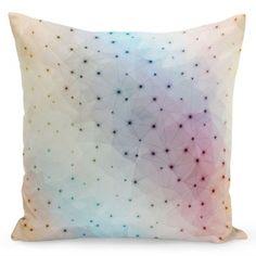 Farebná návliečka na vankúš a čiernymi ornamentmi Throw Pillows, Bed, Toss Pillows, Cushions, Decor Pillows, Beds, Decorative Pillows
