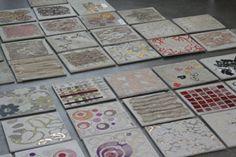 concrete & textile tiles amazing colours and textures @Geraldine Hansell Hansell Hansell Hansell Kane
