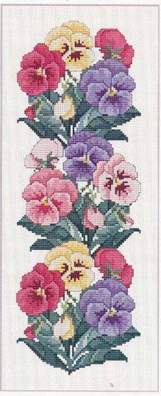 схема для вышивки крестом Цветы.