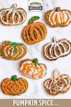Pumpkin Recipes, Fall Recipes, Cookie Recipes, Pumpkin Dishes, Spice Cookies, Cookie Bars, Amazing Food Videos, Pumpkin Oatmeal, Shaped Cookie