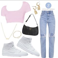 Cute Girl Outfits, Teen Fashion Outfits, Kpop Outfits, 80s Fashion, Fashion Killa, Fashion Capsule, Outfit Goals, Night Outfits, Aesthetic Clothes