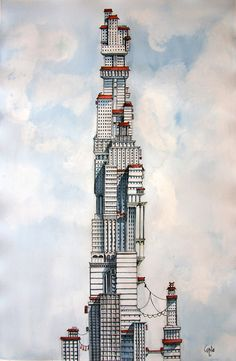 Imaginative Cities by Davide Magliacano http://designwrld.com/babel-imaginative-floating-cities/