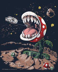 Alto crossover! #MarioBros Vs! #StarWars#GamerForever#Imagen #Random #Arte #Art #Gamers - @DoThe_Evolution - Mario Bros Star Wars Gamer Forever Imagen Random Arte Art Gamers