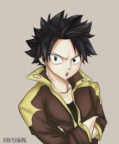Natsu with Black Hair