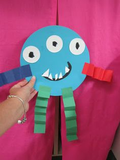 FREE monster writing templates and craft idea..this would be a cute idea to use to teach 2d shapes