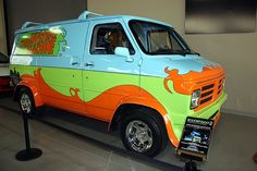 The Mystery Machine from Scooby Doo- 70s vintage Chevy van