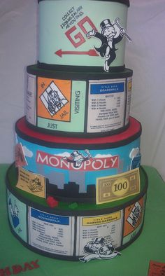 Monopoly Cake | Flickr - Photo Sharing! Mick's Sweets