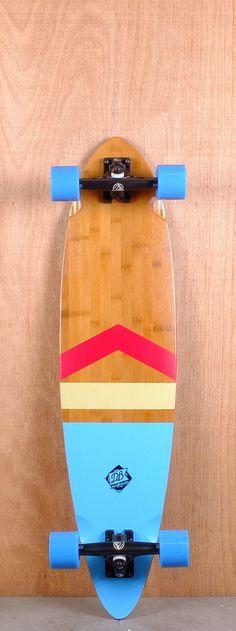 "DB Prebuilt 38"" Anthem Bamboo Fiberglass Pintail Longboard Complete Bottom"