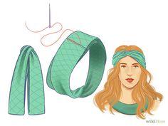 How to Make a Headband via wikiHow.com #DIY #fashion #style