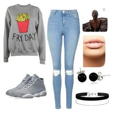 """""""Fry Day"""" by melanie-martiniez96 ❤ liked on Polyvore featuring Adolescent Clothing, Topshop, NIKE, MDMflow, Bling Jewelry and Miss Selfridge"""