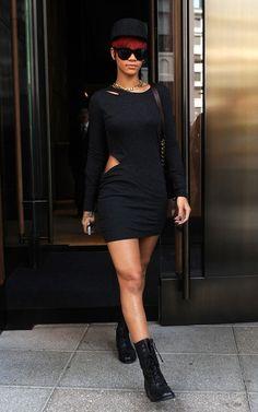 Rihanna, combat boots