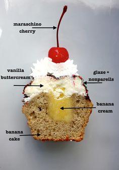 Cannella Vita: Banana Split Cupcakes  *These are AMAZING!