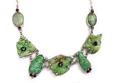 Necklace+celadon-purple+with+chrysoprasus+from++Witrażka+-+jewelry+made+of+semiprecious+stones+by+DaWanda.com