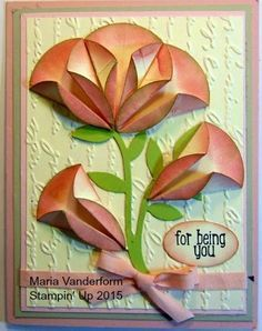 Crafty Maria's Stamping World: For Being You - a Dahlia Fold Card - a partial CASE