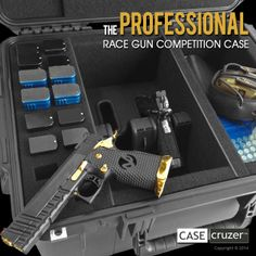The Race Gun Competition Case holds two race guns with magwells plus room for accessories. http://www.casecruzer.com/gun-cases/race-gun-competition-2pack.html