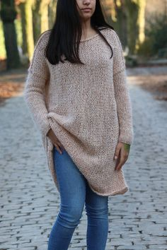 Items similar to Oversized Chunky Knit Sweater, Alpaca Wool Knit Sweater, Knit Sweater, Slouchy Loose Knit Sweater on Etsy Chunky Knit Cardigan, Women's Sweaters, Alpaca Wool, Sweater Weather, Hand Knitting, Turtle Neck, Pullover, Trending Outfits, Beautiful