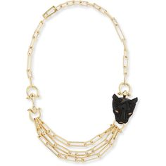 Shop Crystal Panther Multi-Strand Necklace from Alexis Bittar at Neiman Marcus Last Call, where you'll save as much as on designer fashions. Golden Necklace, Golden Jewelry, Crystal Jewelry, Stone Jewelry, Stone Necklace, Beaded Necklace, Necklace Chain, Multi Strand Necklace, Silver Diamonds
