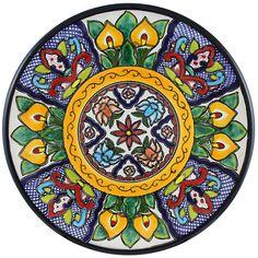 Tomas Huerta TalaveraPlate - Pattern 46 Mexico ♥️♣️♣️Talavera Mexican Pottery : More At FOSTERGINGER @ Pinterest ♣️