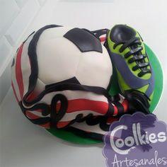 Tarta balón y bufanda del Athletic. Coolkies
