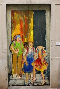 Painted door in the city of Funchal, Madeira, Portugal.